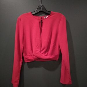 H&M Divided red crop top